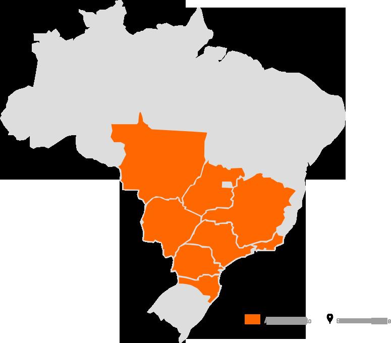 Mapa do Brasil - Área de Atuação